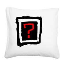 Where is the love on white Square Canvas Pillow