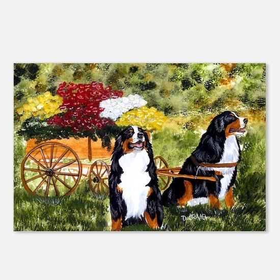 berner flower cart s Postcards (Package of 8)
