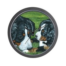 Berner mom and pup Wall Clock