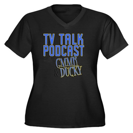 tvtp_shirts Women's Plus Size Dark V-Neck T-Shirt