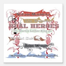 """Real Heroes Square Car Magnet 3"""" x 3"""""""