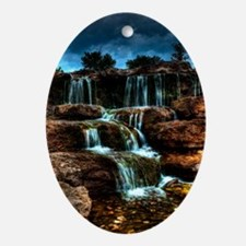ip3g_waterfalls Oval Ornament