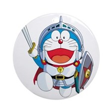 doraemon_in_shining_armor Round Ornament