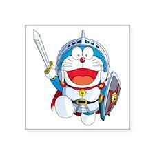 """doraemon_in_shining_armor Square Sticker 3"""" x 3"""""""