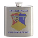 66th armored regiment Flask Bottles