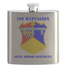 DUI - 1-66th Armor Regiment with Text Flask