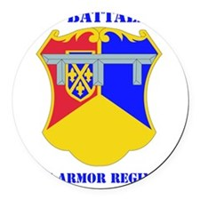 DUI - 1-66th Armor Regiment with  Round Car Magnet
