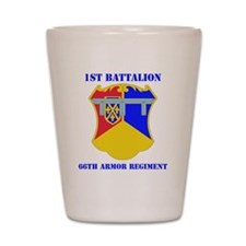 DUI - 1-66th Armor Regiment with Text Shot Glass