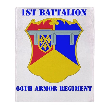 DUI - 1-66th Armor Regiment with Tex Throw Blanket