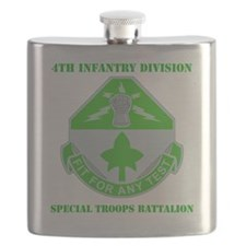 4th In Div-SPEC. Troops BN With Text Flask