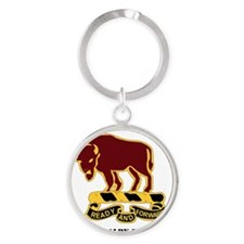 7-10TH CAV RGT WITH TEXT Round Keychain