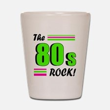 the 80s rock 2 Shot Glass