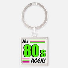 the 80s rock 2 Square Keychain