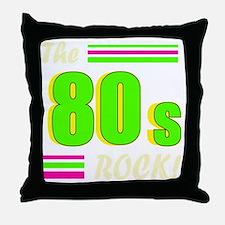 the 80s rock light 2 Throw Pillow