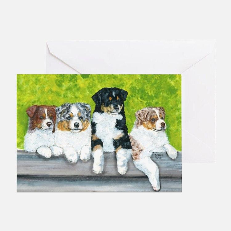 aussie babies Greeting Card