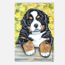 Berner fence pup Postcards (Package of 8)
