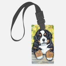 Berner fence pup Luggage Tag