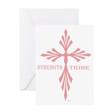 TribeWomenCross1Pink Greeting Card
