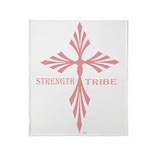 TribeWomenCross1Pink Throw Blanket