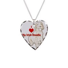 HeartIrishDoodlet2 Necklace