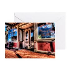 12x12blkwater_cityhall Greeting Card