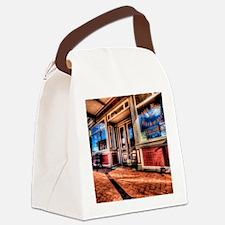 12x12blkwater_cityhall Canvas Lunch Bag
