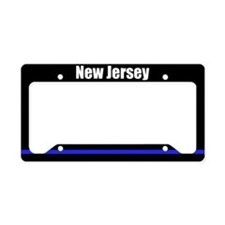 New Jersey Police License Plate Holder