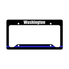 Washington Police License Plate Holder