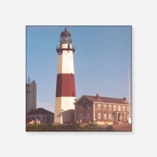 "Montauk Light Square Sticker 3"" x 3"""