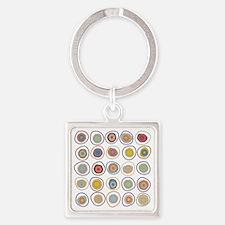 circles Square Keychain