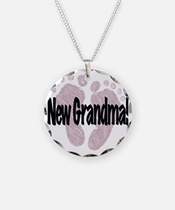 New Grandma (Girl) Necklace Circle Charm