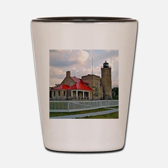 Mackinaw City Light house Shot Glass