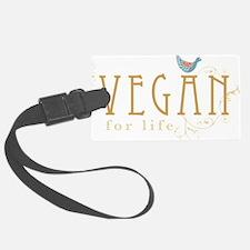 vegan-border2-blk Luggage Tag