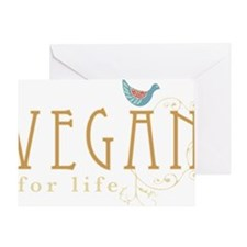 vegan-border2-blk Greeting Card