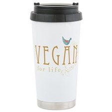 vegan-border2-blk Travel Mug