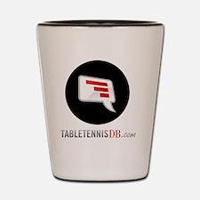 TTDB Logo on White Shot Glass