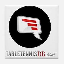 TTDB Logo on White Tile Coaster