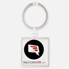TTDB Logo on White Square Keychain