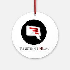TTDB Logo on White Round Ornament