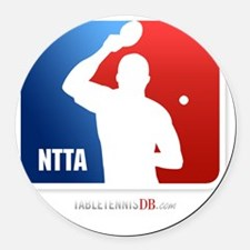 NTTA National Table Tennis Associ Round Car Magnet