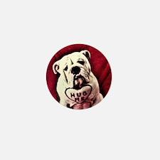 Hug Me Bulldog Valentine Funny Mini Button
