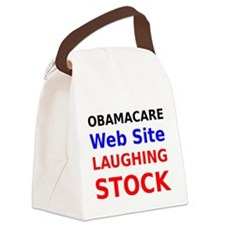 Obamacare Web Site Laughing Stock Canvas Lunch Bag
