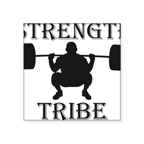 "TribeSquat Square Sticker 3"" x 3"""