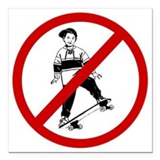 "skateboarders Square Car Magnet 3"" x 3"""