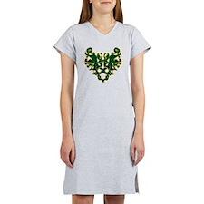 Green Scrolls Women's Nightshirt