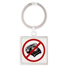 telemarketers Square Keychain