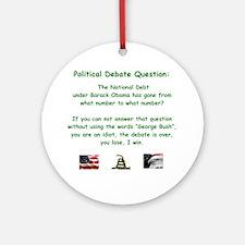 Political Debate Question Round Ornament