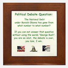 Political Debate Question Framed Tile