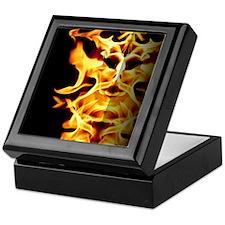 Flaming Wall Keepsake Box