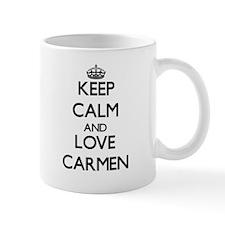 Keep Calm and Love Carmen Mugs